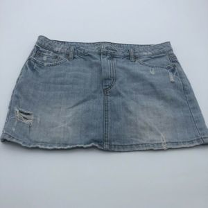 American Eagle Distressed Denim Mini Skirt Size 4